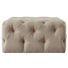 Bourges Rectangular Tufted Cocktail Ottoman by Lark Manor Buy White Shag Rug, Tufted Ottoman, Kilim Ottoman, Cocktail Ottoman, Living Room Seating, Tufting Buttons, Solid Oak, Upholstery, Furniture