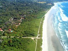 Nosara, Costa Rica - one of our all time favorite beaches Jungle Spirit Yoga Retreat Feb 2015 Ogunquit Beach, Spirit Yoga, Nosara, Paradise City, Beach Yoga, Surf Trip, Yoga Retreat, Travel Light, Aerial View