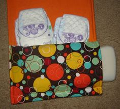 Duo Pocket Changing Pad Clutch TUTORIAL - might be nice to have a few of these packed and handy.  - from Vibrant Designs