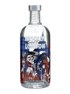 Absolut London, bottled designed by Jamie Hewlett