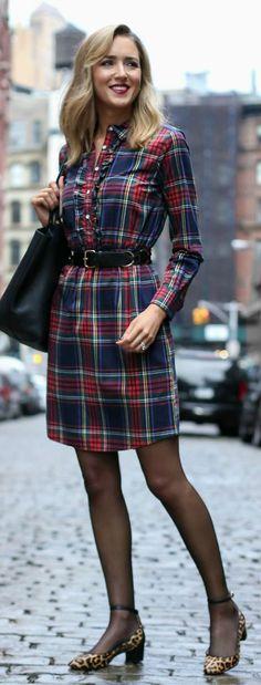 office outfit idea | plaid shirt