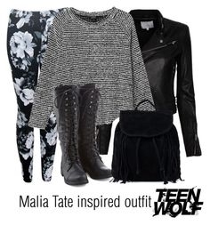 """Malia Tate inspired outfit/Teen Wolf"" by tvdsarahmichele ❤ liked on Polyvore featuring Motel, IRO, Monki and NLY Accessories"