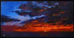 Evening Offering by Kat Bergman Acrylic ~ 18 x 36