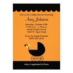 Printable halloween baby shower invitations and templates halloween stroller baby shower invitations filmwisefo