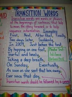 Transition words on pinterest transition words transition words