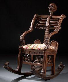Antique #Skeleton Rocking Chair
