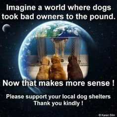 Support your local animal shelter.