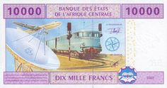 Central African Republic - 10000 CFA Francs (Back)
