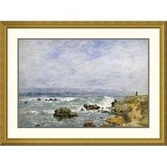 "Global Gallery 'Antibes, La Pointe De L'ilette' by Eugene Boudin Framed Painting Print Size: 30.34"" H x 40"" W x 1.5"" D"