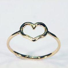 Anello cuore in Oro Rosa 18 Kt.