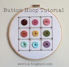 Sew Lux Fabric : Blog: Summertime Adventures: Button Hoop Tutorial