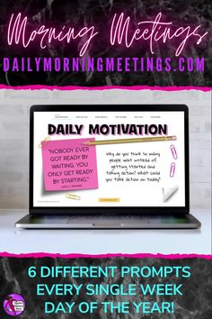 Are you a teacher who needs to settle your students at the start of the day or a lesson? a consistent and fun morning routine in your classroom? a way to encourage your students to have meaningful conversations or writing prompts? an effective morning check in to connect with your students and attend to their social emotional needs? Then these daily morning meetings are all you need! Every weekday, a new prompt will appear for you to use in your classroom. There are 6 different themes each day! School Resources, Teaching Resources, Teaching Ideas, High School Classroom, Classroom Ideas, Daily Fun Facts, Morning Announcements, Daily Jokes, Morning Meetings