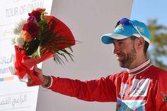 Overall winner Vincenzo Nibali (Astana) smiles on the podium at Tour of Oman