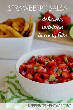 One of our simple favorite things to do with fresh strawberries is to dice-up a pound of them to create this quick-n-easy fresh strawberry salsa!