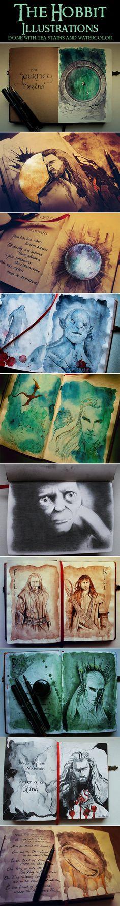 The Hobbit Illustrations. Amazingly beautiful