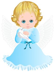 Cute Angel with White Dove Transparent PNG Clip Art Image b50c13b1b