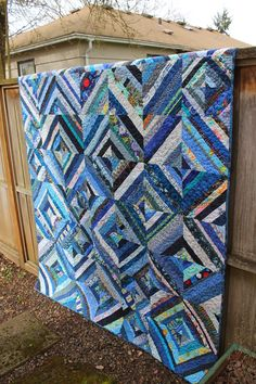 Quilting is more fun than Housework..String quilts are great for Scrap Busting!