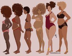 Dare to love your Brown body #nichollekobi #illustration