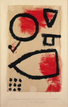 Paul Klee - alea jacta, 1940, Paste paint on hand-made paper, mounted on cardboard.