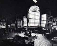 The Studio of N.C. Wyeth in Chadds Ford. It has been left exactly as it was when he died. Part of the N.C. Wyeth museum in Chadd's Ford