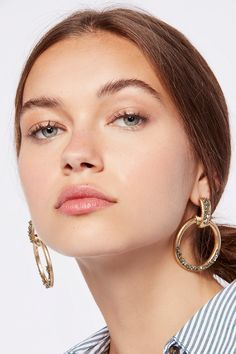 Shop our Stoned Farrah Knocker Hoops at Free People.com. Share style pics with FP Me, and read & post reviews. Free shipping worldwide - see site for details.