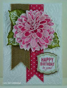 50313720810746945 pretty Stampin Up Regarding Dahlias & Label Love card by Susan Joyce