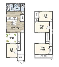 大きな中庭のある家パティオ | アートホーム株式会社 | 2世帯住宅のことなら当社にお任せ下さい。