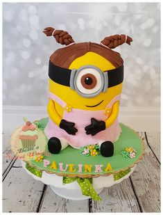 #minioncake #3Dminioncake #miniongirlcake #birthday #birthdaycake #minionforgirl #minioncakeforgirl