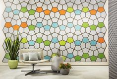 Penta peel-and-stick tiles are made from the acoustic material EchoPanel and come in 20 colors. Stop the noise and start the design! Contact us at info@kireiusa.com for more info!