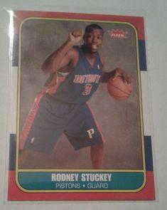 2007-08 FLEER 86 RETRO RODNEY STUCKEY ROOKIE CARD # 86R-154 #IndianaPacers