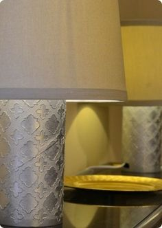 Patterned Lamp from Recycled Container