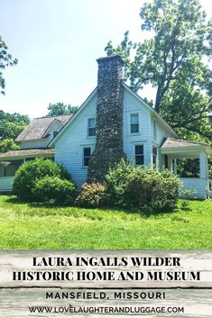 Visit the Laura Ingalls Wilder Historic Home and Museum in Mansfield, Missouri, USA.  See where the Little House books were written.  Ozarks, Little House on the Prairie, Almanzo, Rose Wilder Lane, Rocky Ridge Farm, Rock House