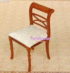 1 12 Dollhouse Miniature Living Room Wooden White Hollow Dining Chair JK1302   eBay $22.99 +3.50ship