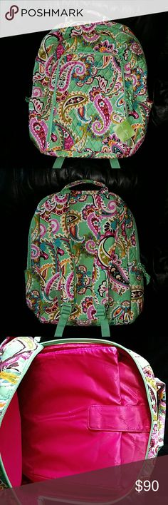 "RARE Vera Bradley ""Tutti Frutti"" Laptop Backpack Nwt! Vera Bradley ""Tutti Frutti"" Laptop Backpack   -gorgeous floral pattern -17.5"" height and 15"" width 2 zippered compartments (large compartment - 3rd photo fits a 15"" laptop), (smaller compartment - 4th photo - 2 wall pockets and 1 zippered interior compartment - 2 Side pockets on either side of Backpack -padded and adjustable shoulder straps -top handle Vera Bradley Bags Backpacks"