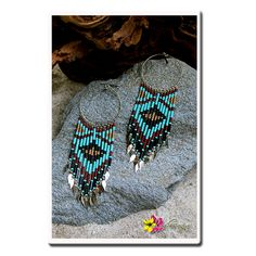"""Stands out and be an eye catcher of our """"EYE OF HORUS earrings"""" for only $ 24.00 available at http://www.luvgypsy.com/products/eye-of-horus #Earrings #GypsyJewel #Boho #TribalJewelry #Bohemian #Beads #Beachwear #Hippie #HippieStyle #Vintage #VibrantColors #Gold #Passion #FestivalLook #BeachWear #LuvGypsy #Wildheart"""