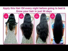 Apply this hair oil every night before going to bed and grow your hair in just 30 days - YouTube