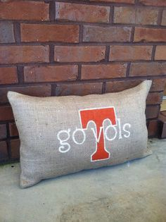 tennessee vols burlap pillow by theburlapelephant on Etsy, $22.00