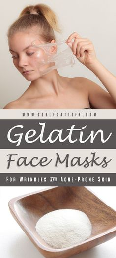 5 Best Gelatin Face Masks For Wrinkles And Acne-Prone Skin. 5 Best Gelatin Face Masks For Wrinkles And Acne-Prone Skin. Acne Face Mask, Diy Face Mask, Face Diy, Diy Masque, Skin Care Routine For 20s, Anti Ride, Les Rides, Peel Off Mask, Homemade Face Masks