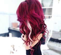 red hair with blond streaks