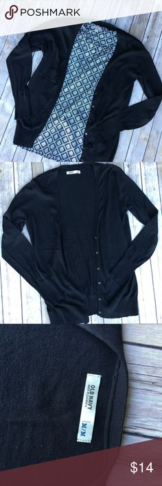 Old Navy Black cardigan In good condition. Size medium. V neck cut with buttons. Old Navy Sweaters Cardigans