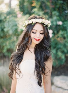 Captured by Sposto Photography, this elegant and glamorous California wedding is jaw dropping to say the least, from the gorgeous gown to the never-ending white florals! Bridal Hair And Makeup, Wedding Makeup, Hair Makeup, Elegant Wedding, Dream Wedding, Wedding Day, Elegant Hairstyles, Wedding Hairstyles, Fairytale Hair