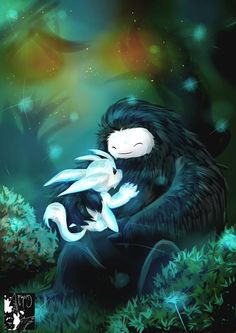 Ori and the Blind Forest fan art by Twitter user @khnoumecthelion