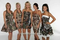 Just might be my camo bridesmaid dresses!!!!