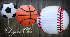 Soccer Ball Paper Lantern Medium by CheylynChic on Etsy, $20.00