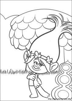 imagenes Trolls para colorear - imagenes de los trolls para imprimir y pintar - dibujos trolls para imprimir