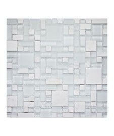 Orion White Modular Mix Tile