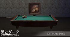 TS4 - Bar Pool Table ~ Noir and Dark Sims