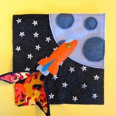 rocket quiet book page