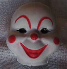 Comical clown doll face 2 faces by Barbs3daughters on Etsy, $5.00