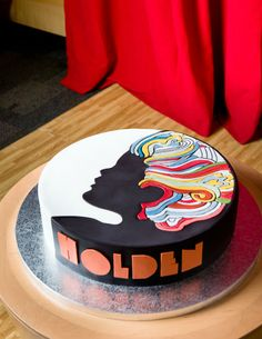 Young Holden's 2nd birthday cake, inspired by Milton Glaser's Bob Dylan poster, was created by Betty Bakery in Brooklyn